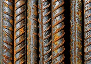 Steel rods, close-up
