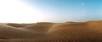 Tunisia, sand dunes, panoramic view