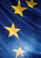 European flag, partial view, close-up