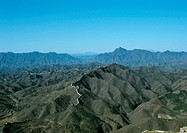 China, Hebei Province, Simatai, the Great Wall, aerial view