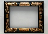 Frame with gilding, close-up