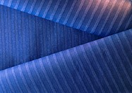 Striped blue paper, close-up