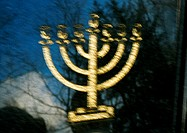 Menorah, blurred