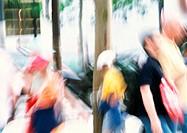 People in street, blurred