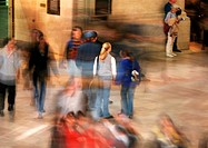 People in street, blurred
