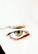 Woman´s hazel eye, close up