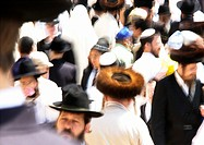 Israel, Jerusalem, crowd , blurred