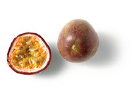 Passion fruit and passion fruit half