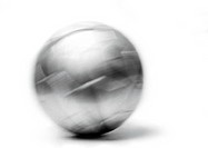 Soccer ball, close-up, blurred, b&w