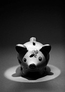 Piggy bank, b&w
