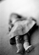 Doll, blurred, b&w