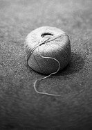 Ball of string, b&w