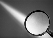 Magnifying glass, b&w