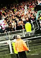 Soccer fans during a match