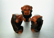 Three wise monkeys, sculpture