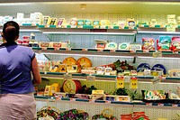 Cheese display. Publix Grocery Store. Miami Beach. Florida. USA