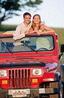 teens in jeep