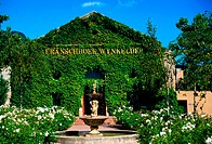 Entrance to the Boschendal wine estate, Franschoek, Western Cape, South Africa