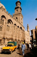 Al Janjur Qalaun Mosque in Cairo's old town. Egypt
