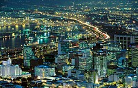View of Cape Town at night. South Africa