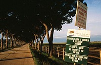 Entrance to Maremma National Park. Grosseto. Tuscany. Italy