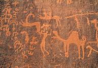 Thamudic inscriptions Wadi Rum Jordan