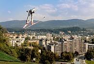 Ski jump. Velenje. Slovenia