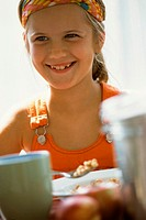 Girl having breakfast