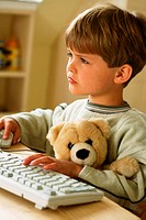 Boy at computer (thumbnail)