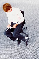 Businessman on office chair