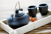 Teapot and cups (thumbnail)