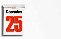 Christmas date on calendar (thumbnail)