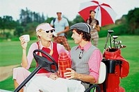 Couple at the golf club