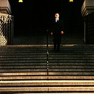 Businessman on stairway