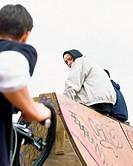 Boys at BMX park