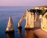 Cliff at Etretat. Normandie. France