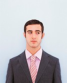 Portrait of a Young Businessman Looking Sideways