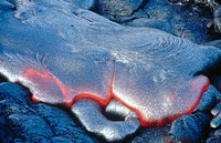 Lava flow. Hawaii Volcanoes National Park. Hawaii
