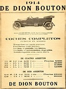 Spanish advertisement for ´De-Dion Bouton´ car (1914)