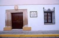 Casa de Medrano, whose cave is supposed to be Miguel de Cervantes' prison. Argamasilla de Alba. Ciudad Real province, Spain