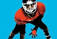 Digital image of an american football player (thumbnail)