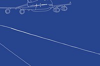 Drawing of a plane flying (thumbnail)