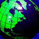 Green and blue earth with lines of latitude and longitude (thumbnail)
