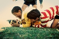 Boys playing rugby (thumbnail)