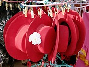Riding hats, souvenirs. Seville. Andalusia, Spain