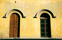 Windows. Lucca. Tuscany, Italy