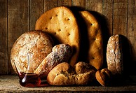 Bread and Red Wine Assortment