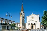 Church in Pojana Maggiore. Veneto, Italy
