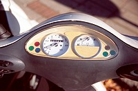 Dashboard on scooter