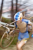 Cyclocross racing event. Euskadi. Spain